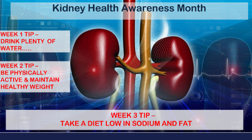 Week 3 KCA Tip: Eat Diet Low in Sodium and Fat